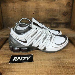 Nike Shox Mc White Gray Cushioned Athletic Shoes